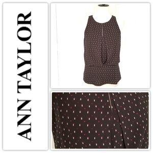 Ann Taylor Black Top - Size  6- EUC!!